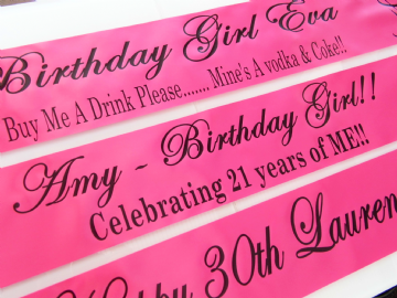 Personalised - Birthday sash